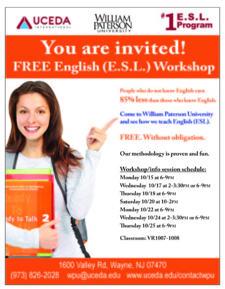 William Paterson FREE ESL workshops
